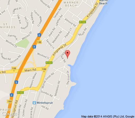 Map Ocean Breeze Cabana 22 & 23 in Warner Beach  South Coast (KZN)  KwaZulu Natal  South Africa