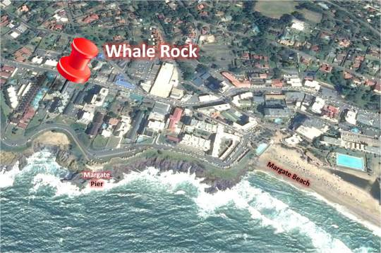 Map 23 Whale Rock in Margate  South Coast (KZN)  KwaZulu Natal  South Africa