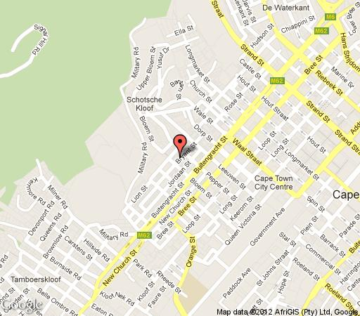 Map 24 on Bryant in Ville de Cape Town  City Bowl  Le Cap  Western Cape  Afrique du Sud