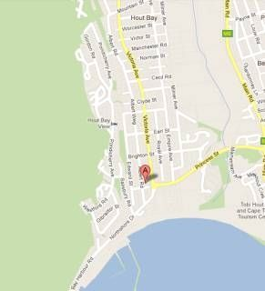 Map Hout Bay Backpackers in Hout Bay  Atlantic Seaboard  Cape Town  Western Cape  South Africa