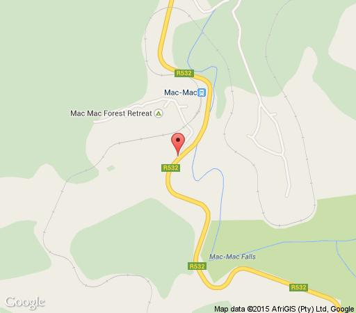 Map Mac Mac Forest Retreat in Sabie  The Panorama  Mpumalanga  South Africa