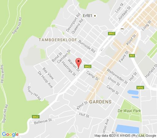 Map Down The Lane in Tamboerskloof  City Bowl  Cape Town  Western Cape  South Africa
