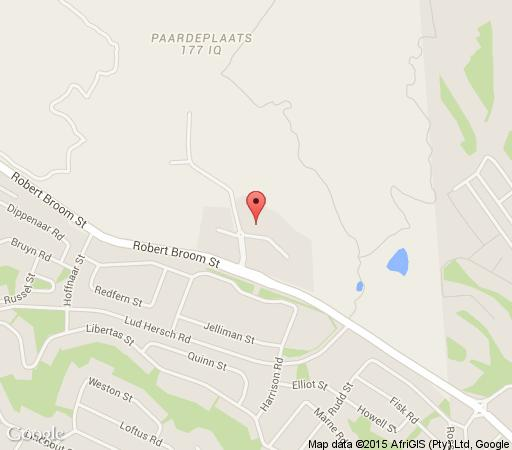 Map Robins Nest in Noordheuwel  Krugersdorp  West Rand  Gauteng  South Africa
