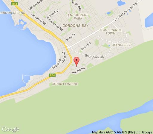 Map Chocolate Box in Gordon's Bay  Helderberg  Western Cape  South Africa