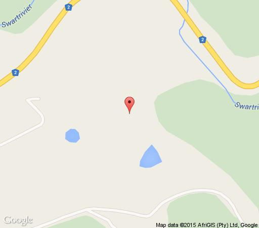 Map Denneberghof in Wilderness  Garden Route  Western Cape  S�dafrika