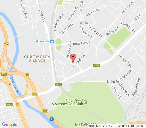 Map Peak Inn Manor in Pinelands  Southern Suburbs (CPT)  Cape Town  Western Cape  South Africa