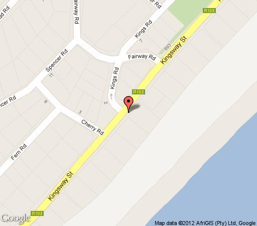 Map Luxury Beach Apartments  in Amanzimtoti  South Coast (KZN)  KwaZulu Natal  South Africa