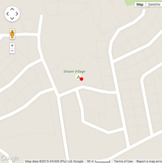 Map Siloam Village in Gariep Dam  Xhariep (Southern Free State)  Free State  South Africa