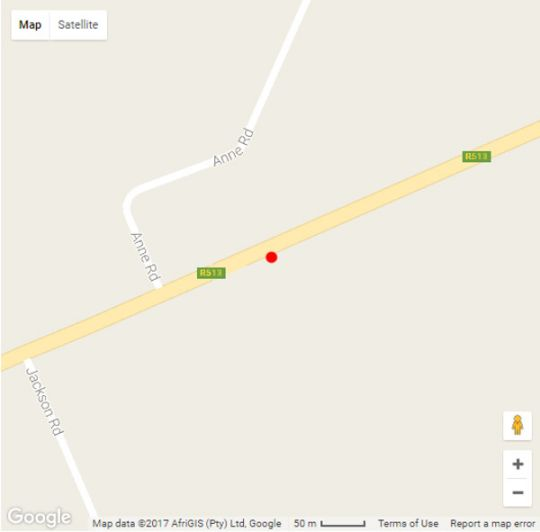Map Destiny Lodge Cullinan in Cullinan  Pretoria North  Pretoria / Tshwane  Gauteng  South Africa