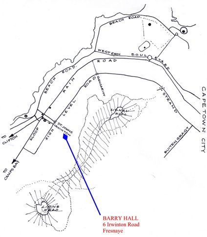 Map Barry Hall  Apartments in Fresnaye  Atlantic Seaboard  Cape Town  Western Cape  South Africa