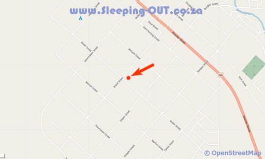 Map Purple House B And B in Smithfield  Xhariep (Southern Free State)  Free State  Suid-Afrika