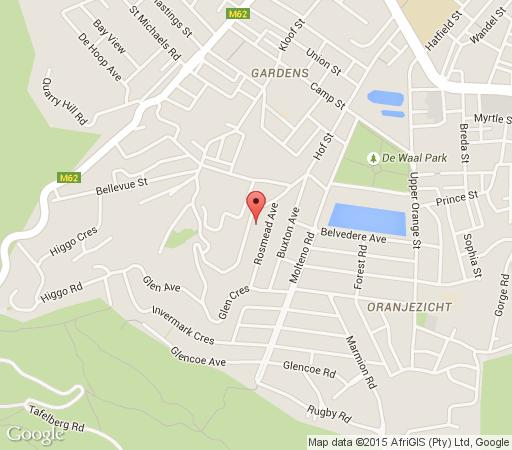 Map Kensington Villa in Higgovale  City Bowl  Cape Town  Western Cape  South Africa