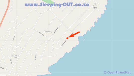 Map Bottlenose B&B in Port Edward  South Coast (KZN)  KwaZulu Natal  South Africa
