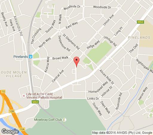 Map Rosedale Guest Suite in Pinelands  Southern Suburbs (CPT)  Cape Town  Western Cape  South Africa