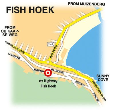 Map Whale Watchers Private Luxury Apartments in Fish Hoek  False Bay  Cape Town  Western Cape  South Africa