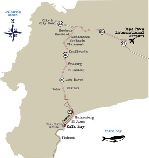 Map Inn at Castle Hill in Kalk Bay  False Bay  Cape Town  Western Cape  South Africa