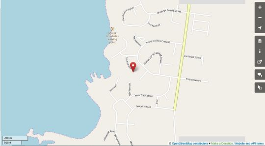 Map Artists Retreat B & B in Jacobsbaai  West Coast (WC)  Western Cape  South Africa