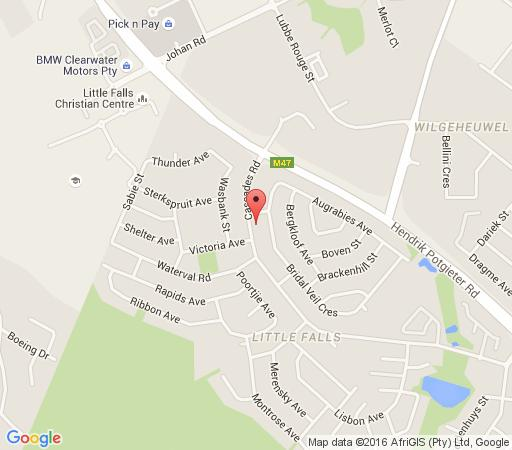 Map Homestay Self Catering Unit in Little Falls  Roodepoort  West Rand  Gauteng  South Africa