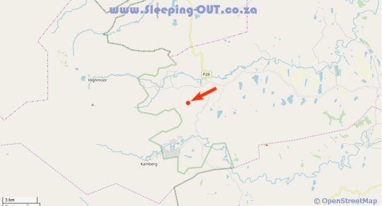 Map Qambathi Mountain Lodge in Mooi River  Midlands  KwaZulu Natal  Zuid-Afrika