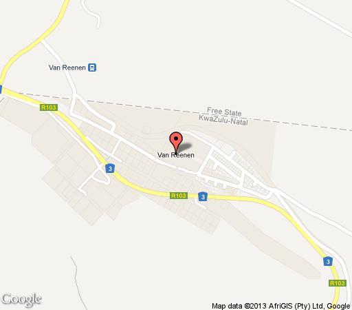 Map Oaklands Country Manor in Van Reenens Pass  Battlefields  KwaZulu Natal  South Africa