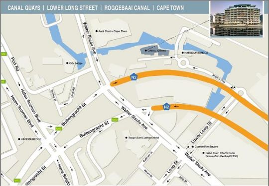 Map 702 Canal Quays in Waterfront  City Bowl  Cape Town  Western Cape  South Africa