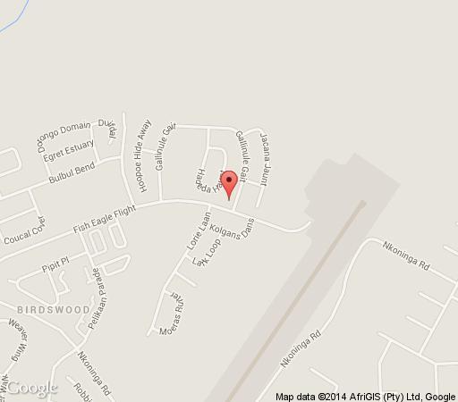 Map Fish Eagle Inn in Richards Bay  Zululand  KwaZulu Natal  South Africa