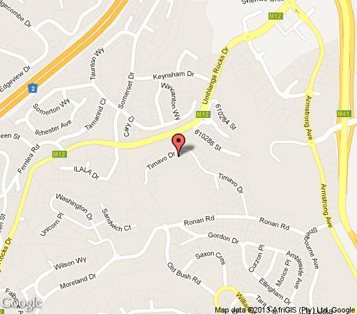 Map Kites View Bed & Breakfast  in La Lucia  Northern Suburbs (DBN)  Durban and Surrounds  KwaZulu Natal  South Africa