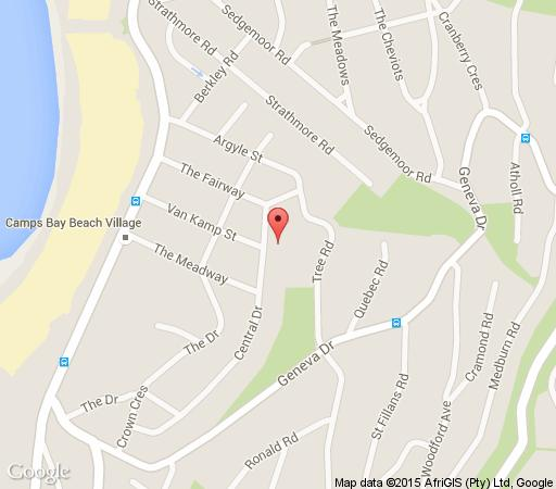 Map Seafive Boutique Hotel in Camps Bay  Atlantic Seaboard  Cape Town  Western Cape  South Africa