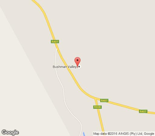 Map Bushman Valley in Prince Albert  Karoo  Western Cape  South Africa