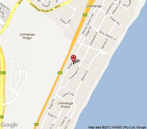 Map Valdior in Umhlanga Rocks  Umhlanga  Northern Suburbs (DBN)  Durban and Surrounds  KwaZulu Natal  South Africa