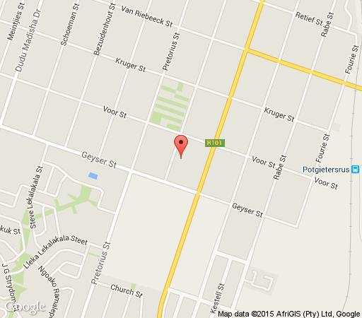 Map Ruiter Ave 138 in Mokopane  Waterberg  Bushveld  Limpopo  South Africa