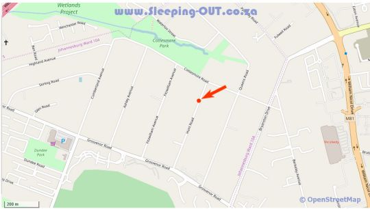 Map A Peaceful Retreat in Bryanston  Sandton  Johannesburg  Gauteng  South Africa