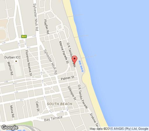 Map Parkview Hotel in North Beach  Durban  Durban and Surrounds  KwaZulu Natal  South Africa