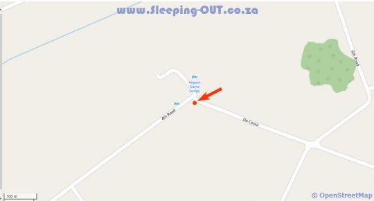 Map Airport Game Lodge in Kempton Park  Ekurhuleni (East Rand)  Gauteng  South Africa