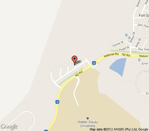 Map Sleep and Dream Guest House in Mthatha (Umtata)  Wild Coast  Eastern Cape  South Africa