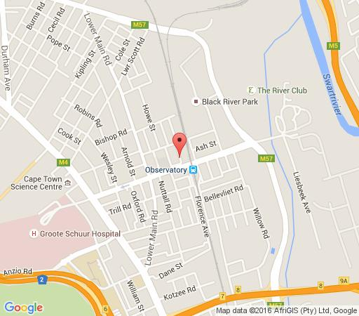 Map Riverview Lodge in Observatory (CPT)  Southern Suburbs (CPT)  Cape Town  Western Cape  South Africa