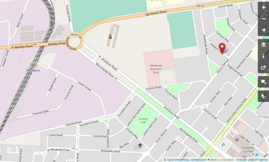 Map Inn-Style Guesthouse  in Pinelands  Southern Suburbs (CPT)  Cape Town  Western Cape  South Africa
