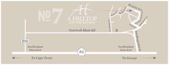 Map A Hilltop Country Retreat in Swellendam  Overberg  Western Cape  South Africa