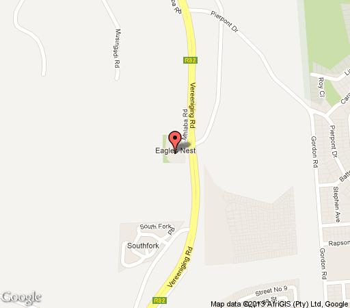 Map Eagles Nest Estate Guest House in Eikenhof  Johannesburg South  Johannesburg  Gauteng  South Africa