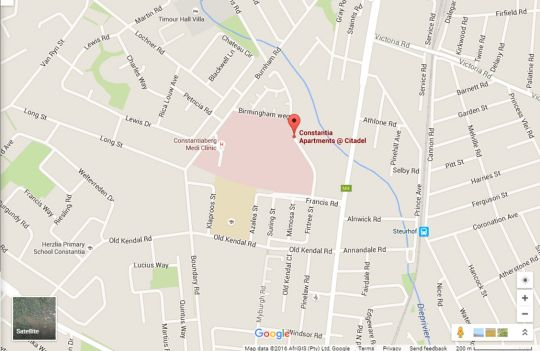 Map Constantia Apartments  in Constantia (CPT)  Southern Suburbs (CPT)  Cape Town  Western Cape  South Africa