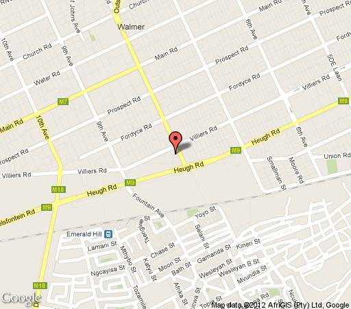 Map Moramba Cottage in Walmer  Port Elizabeth  Cacadu (Sarah Baartman)  Eastern Cape  South Africa