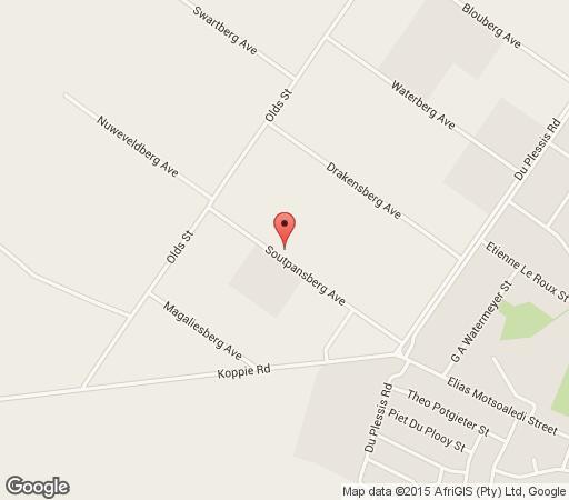 Map Klipkappertjie Guest House in Bloemfontein  Mangaung  Free State  South Africa