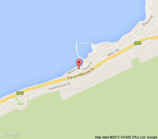 Map Bikini Beach Suites in Gordon's Bay  Helderberg  Western Cape  South Africa