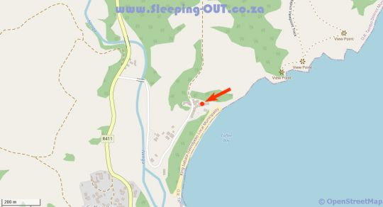 Map Ocean View Hotel in Coffee Bay  Wild Coast  Eastern Cape  Südafrika