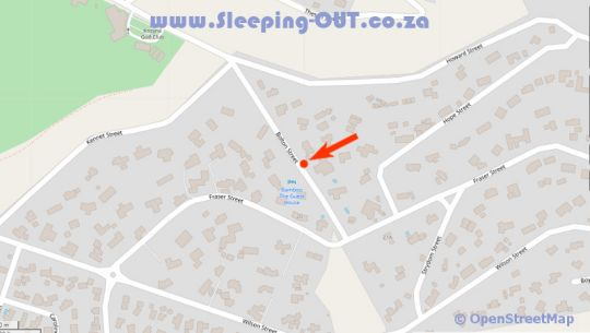 Map Bamboo, the Guest House in Knysna  Garden Route  Western Cape  South Africa