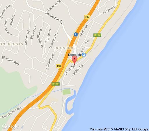 Map Driftsands 65 in Doonside  South Coast (KZN)  KwaZulu Natal  South Africa