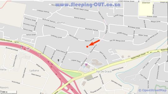 Map Lalakamnandi Guest House in Val de Grace  Pretoria East  Pretoria / Tshwane  Gauteng  South Africa