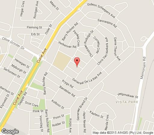 Map Elior Guest House in Bloemfontein  Mangaung  Free State  South Africa