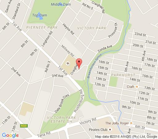 Map Moonflower  in Victory Park  Northcliff/Rosebank  Johannesburg  Gauteng  Afrique du Sud