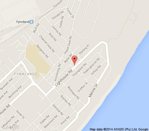 Map Lighthouse Inn B & B in Bluff  Durban  Durban and Surrounds  KwaZulu Natal  South Africa